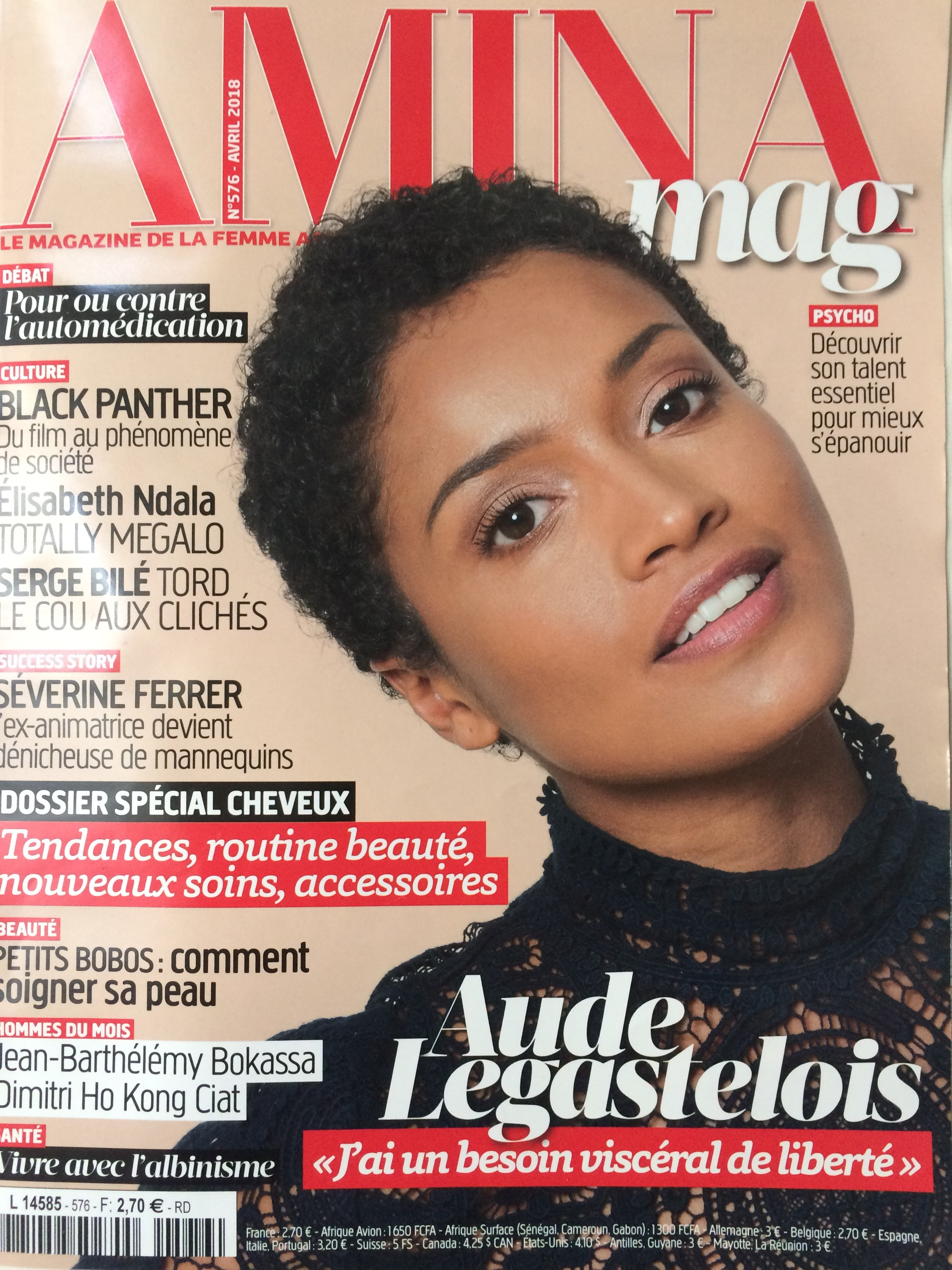 Couverture Amina Mag n°576 Avril 2018